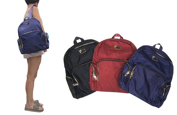 ~雪黛屋~COUNT 後背包大容量可A4資料夾水瓶外袋可8吋平板防水水晶布材質休閒BCD5000500960