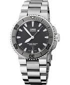 ORIS 豪利時 Aquis 時間之海專業潛水機械手錶-鐵灰/43mm 0173376534153-0782601PEB