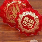 結婚慶用品糖果盤加厚塑膠水果盤婚禮婚宴瓜果盤喜慶道具 『夢娜麗莎精品館』YXS