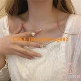 愛心項鏈女鎖骨鏈輕奢小眾設計感頸鏈簡約鏈條項鏈【少女顏究院】