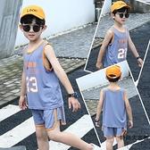 兒童籃球服速干外穿無袖夏裝男童背心短褲套裝夏季薄款【時尚大衣櫥】