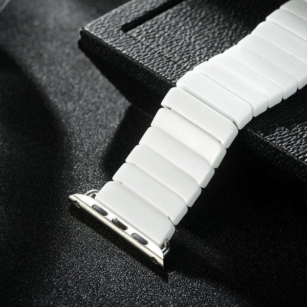 高端商務 Apple Watch 4 3 2 1 智慧手錶 陶瓷 錶帶 折疊扣 精緻 替換 手錶帶 時尚 舒適 手腕帶 腕帶