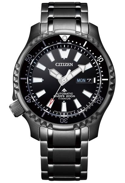 鈦黑河豚限量款【分期0利率】星辰錶 CITIZEN 潛水 機械錶 42mm 原廠公司貨 NY0105-81E