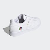 【折後$3080再送贈品】Adidas originals Superstar 刺繡 彩虹 貝殼頭 運動鞋 FW3694 白 女鞋