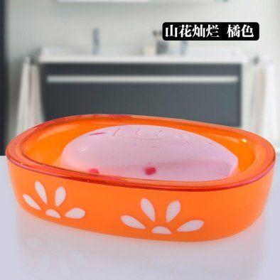 創意時尚浴室皂盒帶蓋可瀝水7