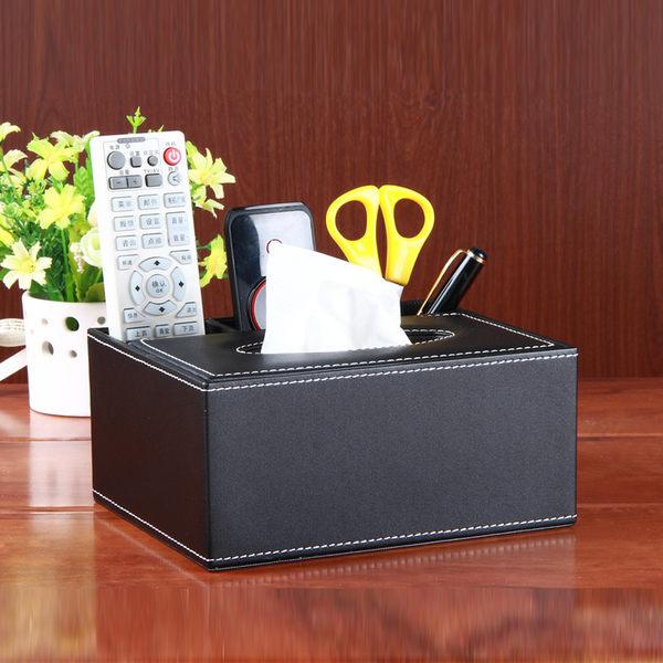 經典黑皮革面紙盒 餐廳/飯店愛用款3297