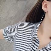 耳環 排列 鑲鑽 鍊條 流蘇 拼接 後掛式 氣質 耳釘 耳環【DD1809038】 BOBI  11/01