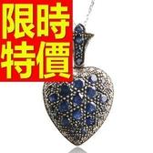藍寶石 項鍊 墜子S925純銀-3.78克拉生日情人節禮物女飾品53sa35【巴黎精品】