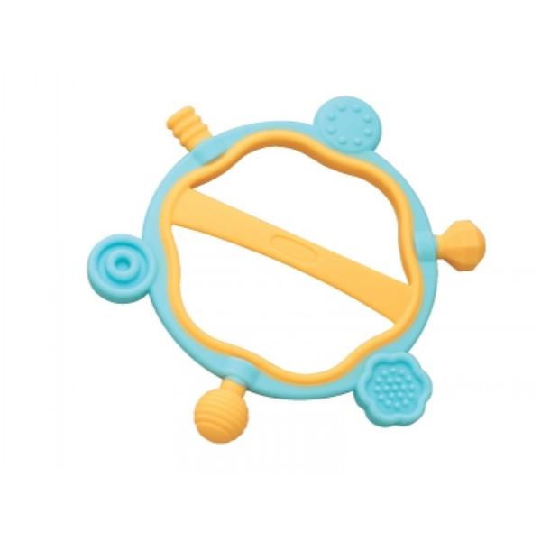 《 日本 Toyroyal 樂雅 》牙膠六角搖鈴 / JOYBUS玩具百貨