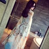 雪紡絲巾-韓版簡約潑墨設計女披肩2色73hw30【時尚巴黎】