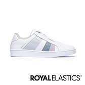ROYAL ELASTICS Prince Albert 白藍灰真皮時尚休閒鞋 (女) 91494-085