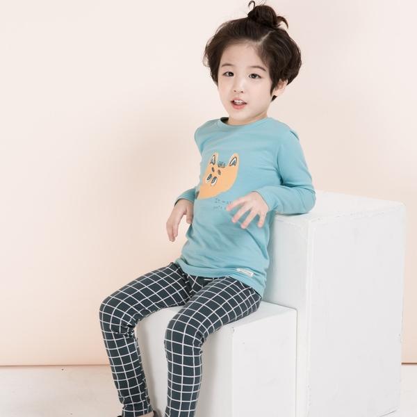 【北投之家】男童睡衣套裝 九分袖上衣+褲子 小狐狸 | 正韓童裝 (兒童/小孩/小朋友/幼童/男童)
