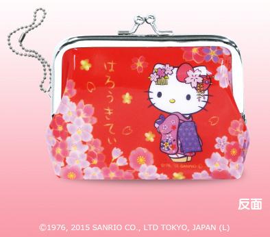 日本限定 HELLO KITTY 和風櫻花 復古零錢包