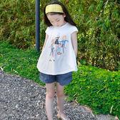 女童兒童仿牛仔運動短褲夏裝2018新款