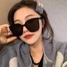 2021年新款大框方形gm墨鏡女款黑色潮高級眼鏡太陽鏡圓臉大臉顯瘦