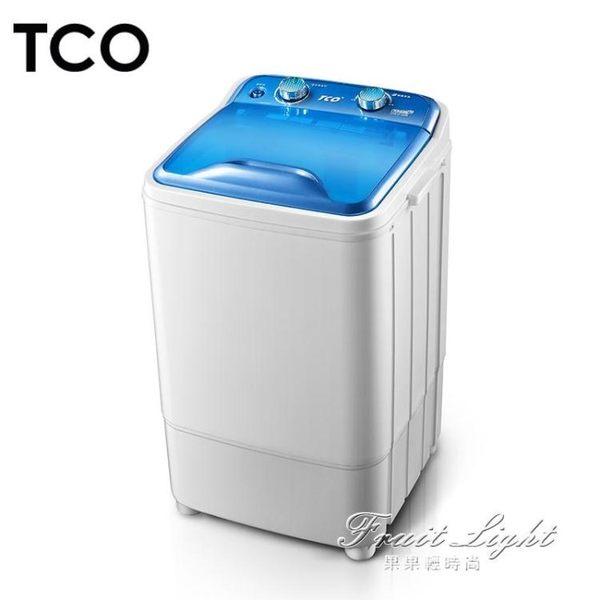 洗衣機 大容量單筒單桶半全自動小型迷你洗衣機家用波輪瀝脫水帶甩干 果果輕時尚igo 220V