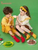 caramella寶寶襪子新生兒襪子男童女童襪子純棉中筒襪秋冬地板襪 喵小姐