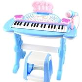 唱歌女童電子琴字孑琴小女孩鋼琴彈琴男孩玩具了兒童話筒帶開智電