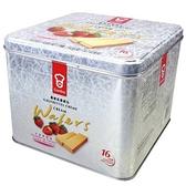 香港嘉頓威化餅草莓43gx16