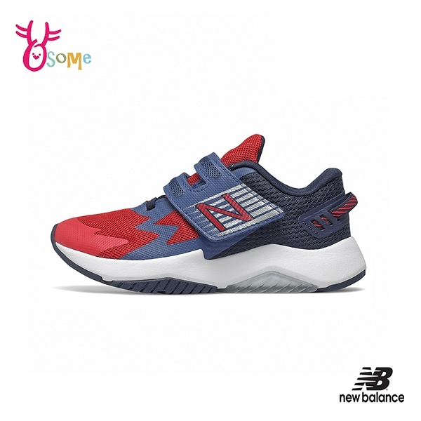 New Balance童鞋 男童運動鞋 RAVE RUN NB童 魔鬼氈跑步鞋 寬楦 輕量透氣慢跑鞋 P8569#紅藍◆OSOME奧森鞋業