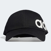 ADIDAS LINEAR BOLD 黑側邊白英文LOGO 老帽 男女皆可戴布魯克林ED0318