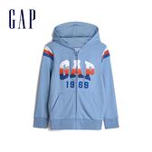 Gap男童徽標LOGO連帽衫538481-舒適藍