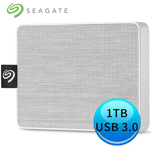 Seagate 希捷 One Touch SSD 1TB 外接 固態硬碟 晨霧白 STJE1000402
