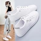 帆布鞋 2021春季新款百搭小白女鞋運動平底休閑爆款2020秋夏板鞋網
