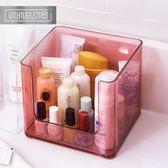 優惠兩天-透明化妝品收納盒塑料簡約桌面家用面膜整理盒置物架BLNZ