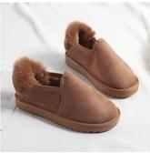 小鄧子2017冬季韓版雪地靴女學生短筒女靴平底保暖加絨棉靴子加厚麵包鞋