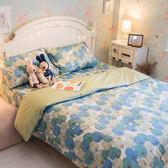 那座森林  S3單人床包與雙人新式兩用被四件組 100%精梳棉  台灣製 棉床本舖