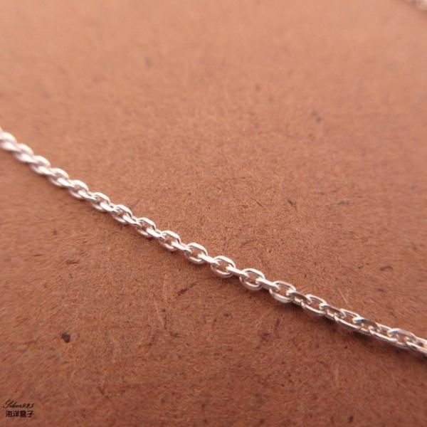 §海洋盒子§ 16吋40cm。實搭基本款義大利925純銀單鍊子 《925純銀》銀飾