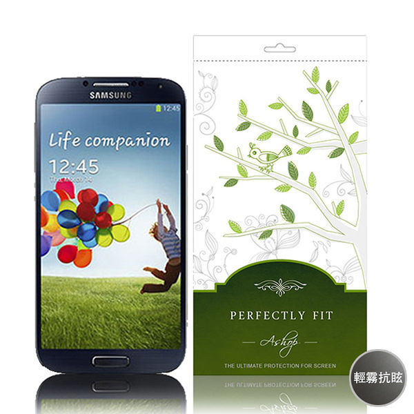 【A Shop】Real Stuff 系列Screen Protector Samsung GALAXY S4 輕霧抗眩保護貼(正)-ASP007-AA-S4
