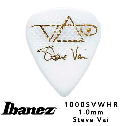 【敦煌樂器】IBANEZ 1000SVWH 1.0mm 吉他彈片 白色防滑款【十片包裝】