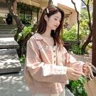 秋季新款粉色牛仔外套女裝2021韓版學生大碼寬鬆長袖顯瘦洋氣上衣