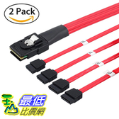 [7美國直購] LiNKFOR 2 Pack 10Gbps 1.6ft Mini SAS Male SFF-8087 36Pin to