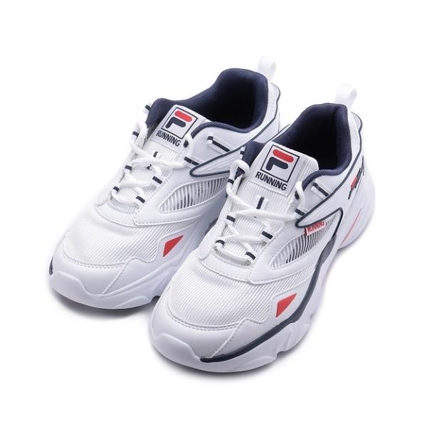 FILA 復古鏤空老爹鞋 白 1-J325V-123 男鞋
