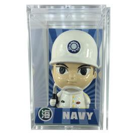 【收藏天地】台灣紀念品*Q版公仔擺飾-海軍