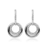 耳環 925純銀鑲鑽-耀眼迷人生日情人節禮物女耳針2色73gt206【時尚巴黎】