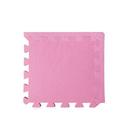 【新生活家】柔彩地墊附邊條8入-粉紅