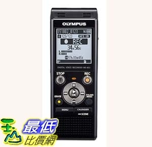 [7美國直購] 錄音筆 Olympus Digital Voice Recorder WS-853, Black