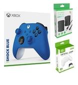 [哈GAME族]免運費 可刷卡 Xbox Series 衝擊藍 無線藍牙控制器+KJH XSX-002 手把水晶殼+ X131手把 電池