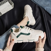 老爹鞋 女ins潮平底百搭網紅學生爆款2021新款老爹鞋運動板鞋