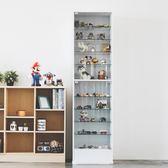 收納櫃 置物架  展示櫃【R0059】華倫180cm玻璃展示櫃(白色) MIT台灣製   收納專科