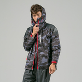 [安信騎士] 犀力 兩件式 風雨衣 灰迷彩 雨衣 彈性布袖口專利