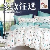 100%精梳棉單人三件式舖棉兩用被床包組-多款任選 台灣製 200織