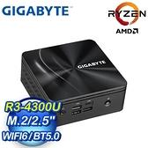 【南紡購物中心】Gigabyte 技嘉 BRIX GB-BRR3H-4300 迷你準系統電腦(R3-4300U/WiFi 6)