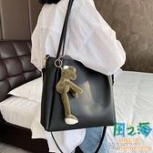 春季女包包潮爆款百搭斜背包大容量單肩包時尚洋氣托特包側背包