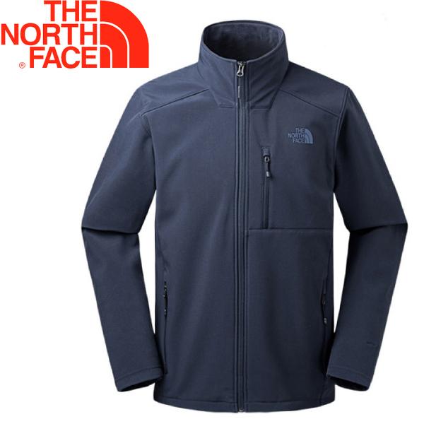【The North Face 美國 男款 防風保暖外套《藍》】2UD6/防風/防潑水/刷毛內裏★滿額送