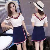 洋裝套裝 夜店性感可愛套裝裙顯瘦夏季甜美裙子 巴黎春天